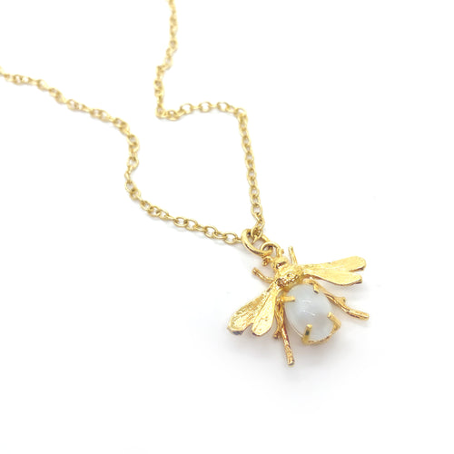 Blanc Fly Necklace