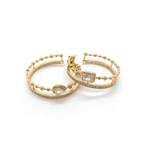 Precious Crystal Hoops