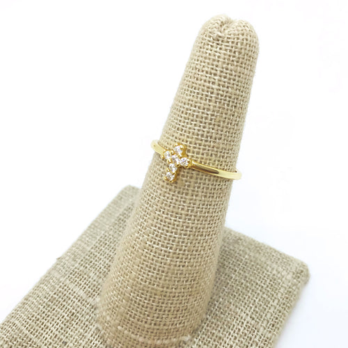Petit Cross Ring
