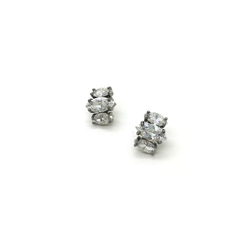 Gun Metal Princess Studs