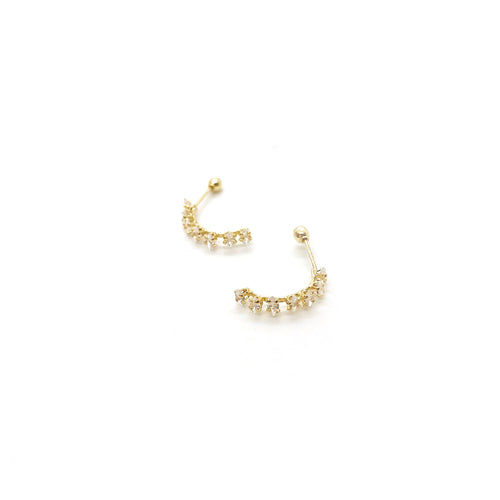 Chateau Semi Hoop - Golden Earrings