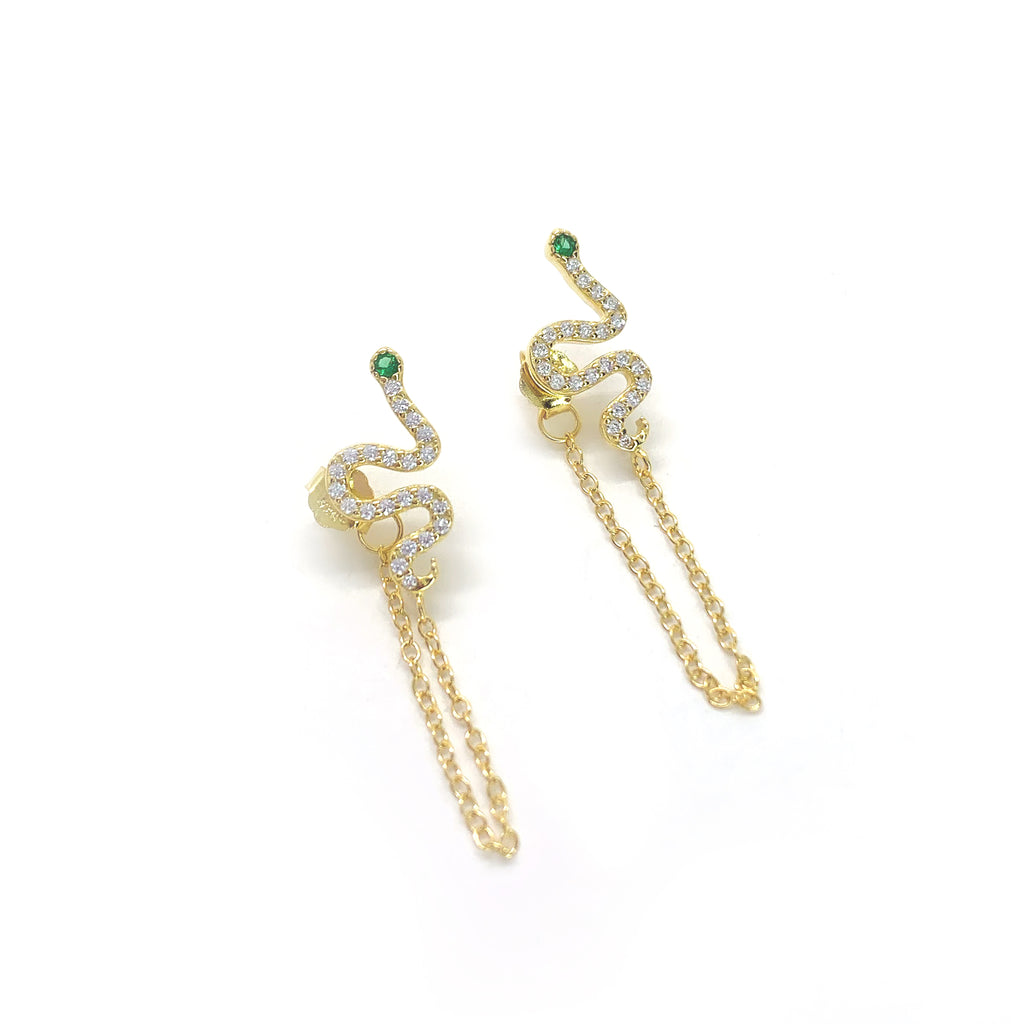 Chained Viper Earrings