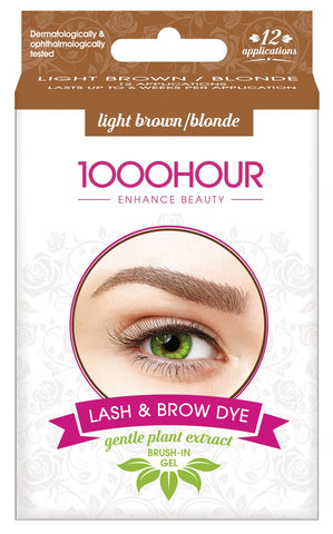 1000 HOUR LASH & BROW GENTLE PLANT EXTRACT DYE KIT-LIGHT BROWN/BLONDE