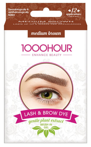 1000 HOUR LASH & BROW GENTLE PLANT EXTRACT DYE KIT- MEDIUM BROWN
