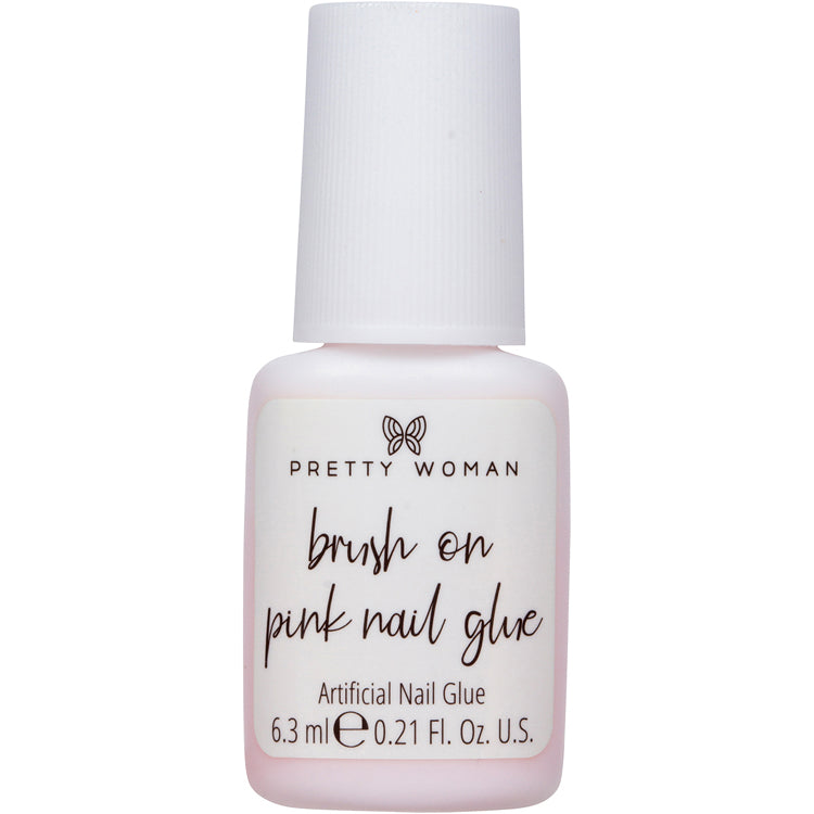 BRUSH ON PINK NAIL GLUE
