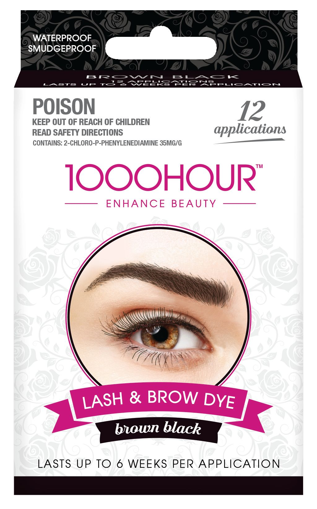 1000HOUR LASH & BROW DYE KIT - BROWN BLACK