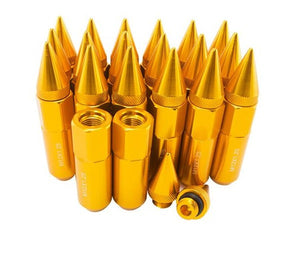 90mm Length Spike Anodized Aluminum Lug Nuts M12X1.25 - ClutchKick.com