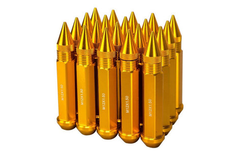 Image of 120mm Length Spike Anodized Aluminum Lug Nuts M12X1.5 - ClutchKick.com