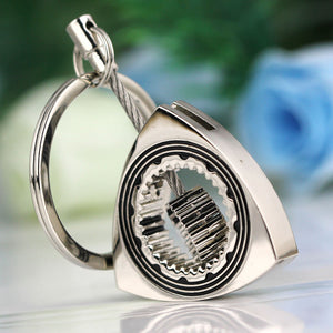 Polished Silver Rotor Keychain