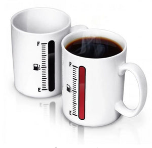'Tank Up' Fuel Gauge Heat Sensitive Mug
