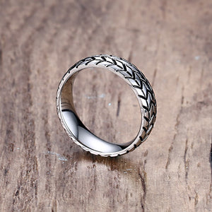 Tire Tread Ring Silver