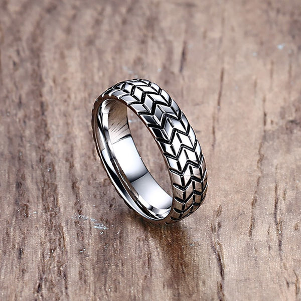 Tire Tread Ring Silver - ClutchKick.com
