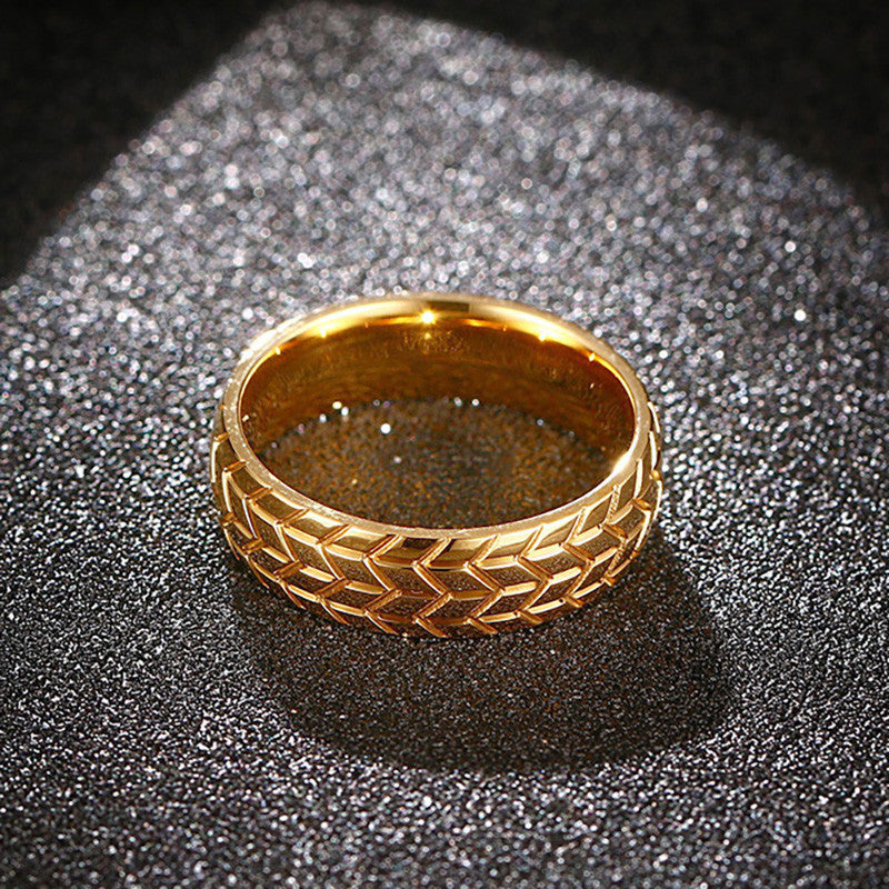 Tire Tread Ring Gold - ClutchKick.com