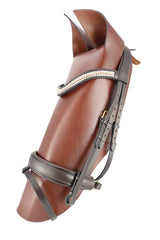 Dressage Bridle With Bling Browband - Mal Byrne Performance Saddlery