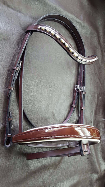 Limited Edition Patent  Dressage Bridle
