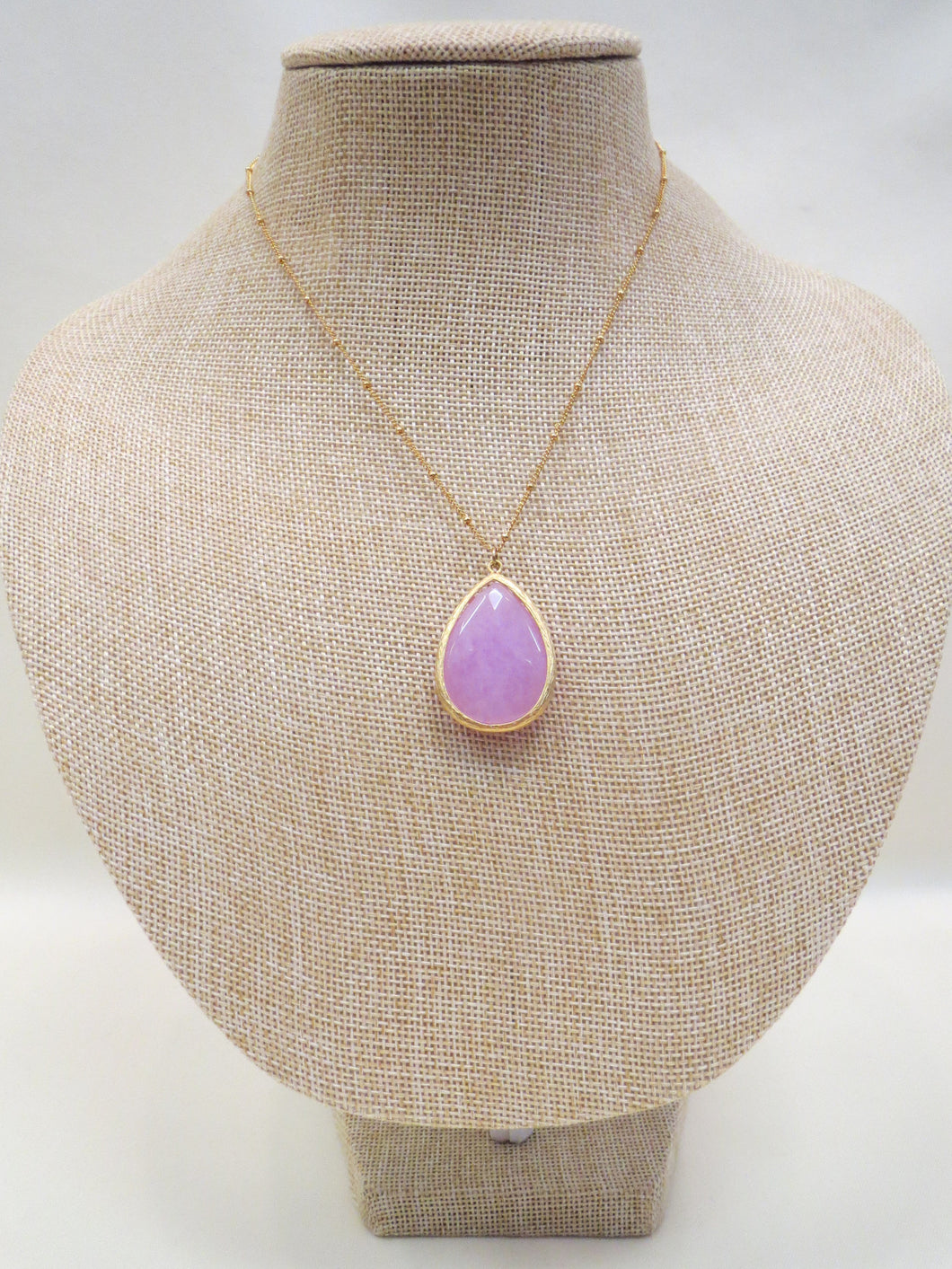 ADO Teardrop Stone Violet Necklace | All Dec'd Out