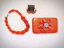 ADO | Orange Seed Bead Twisted Necklace
