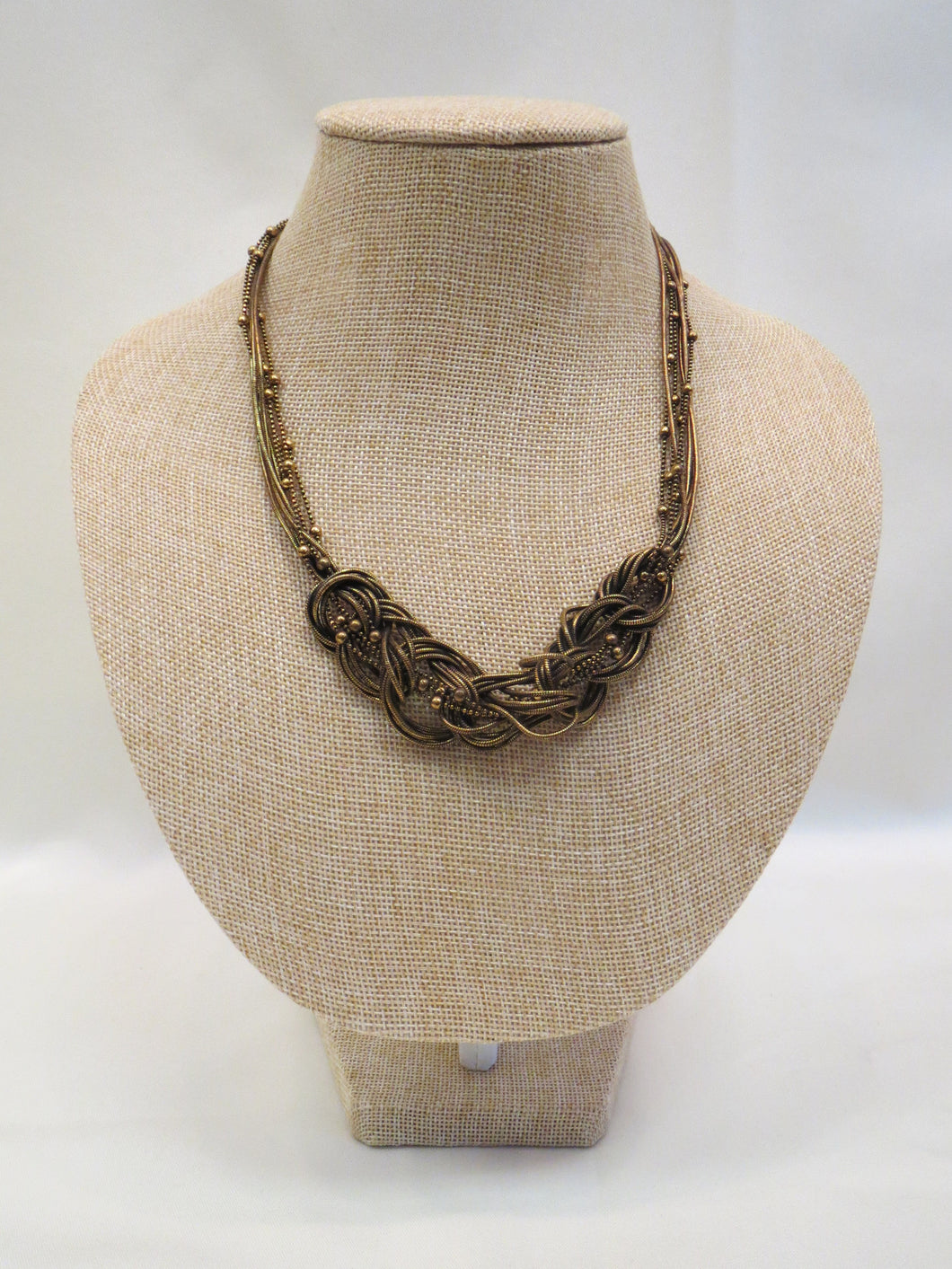 Treska Gold Knot Necklace | All Dec'd Out