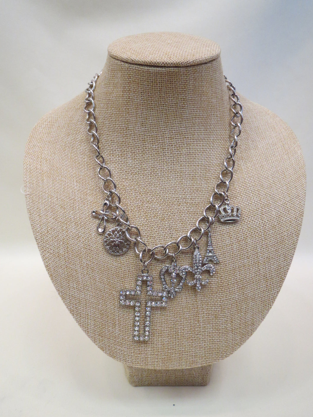 ADO | Cross Charm Necklace Silver - All Decd Out
