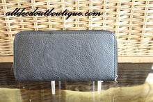 ADO | Black Braided Bling Zip Clutch Wallet - All Decd Out
