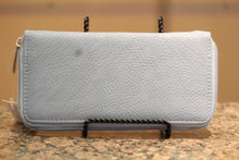 ADO | Braided Bling Zip Clutch Wallet - All Decd Out