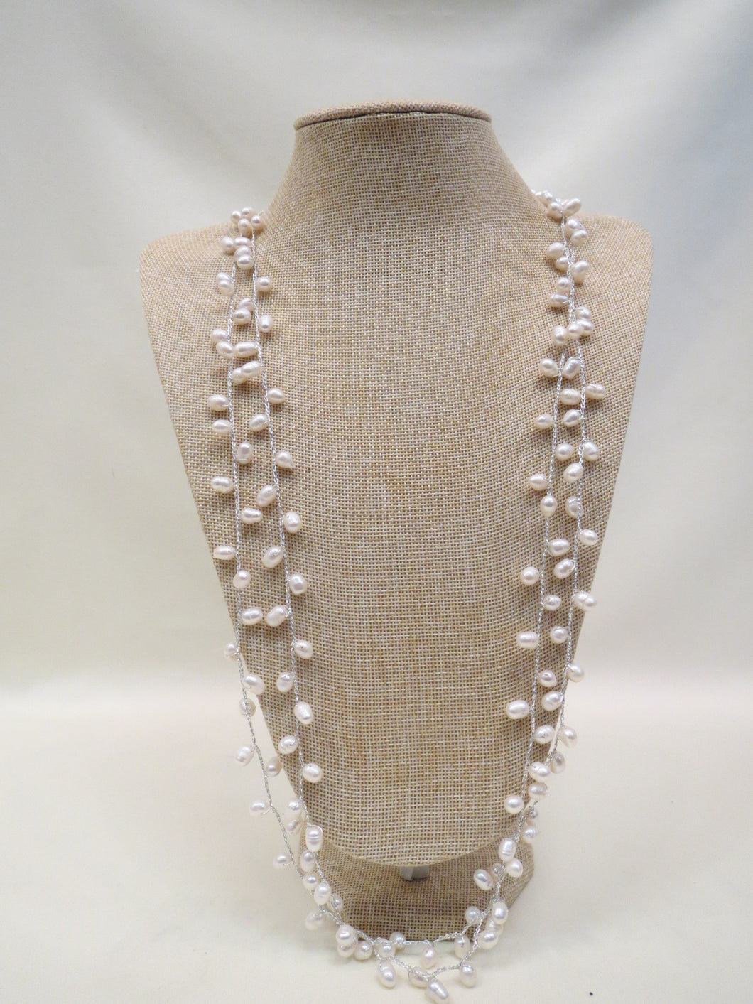ADO Silver Thread Necklace w/ Pearls | All Dec'd Out