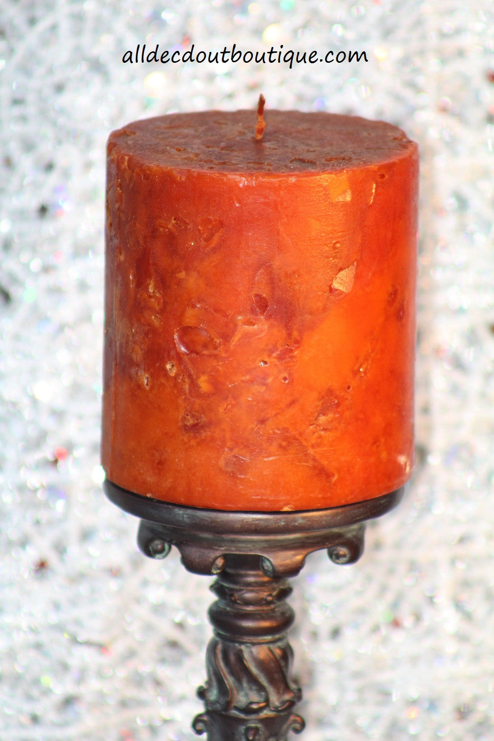 Pillar Candle | 4 x 4 Orange Unscented - All Decd Out