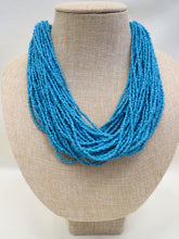 ADO | Indigo Multi Strand Beaded Necklace - All Decd Out