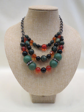 ADO | 3 Strand Multicolored Necklace - All Decd Out