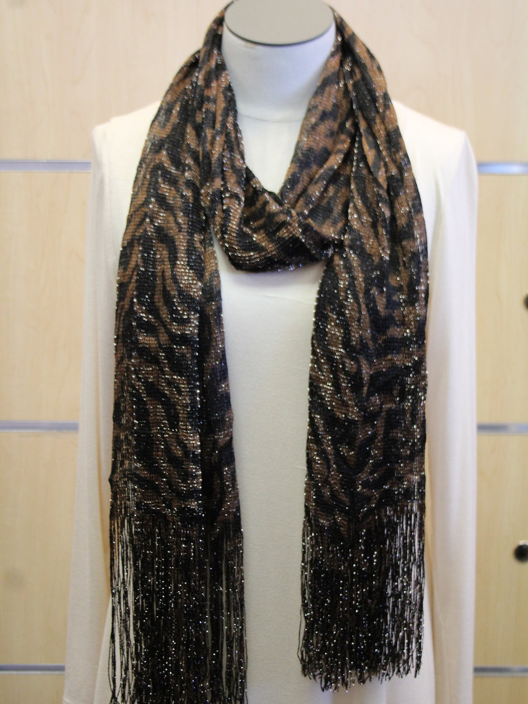 ADO | Wrap Brown Zebra Print Scarf