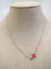 ADO | Coral Side Cross on Gold Chain Necklace - All Decd Out