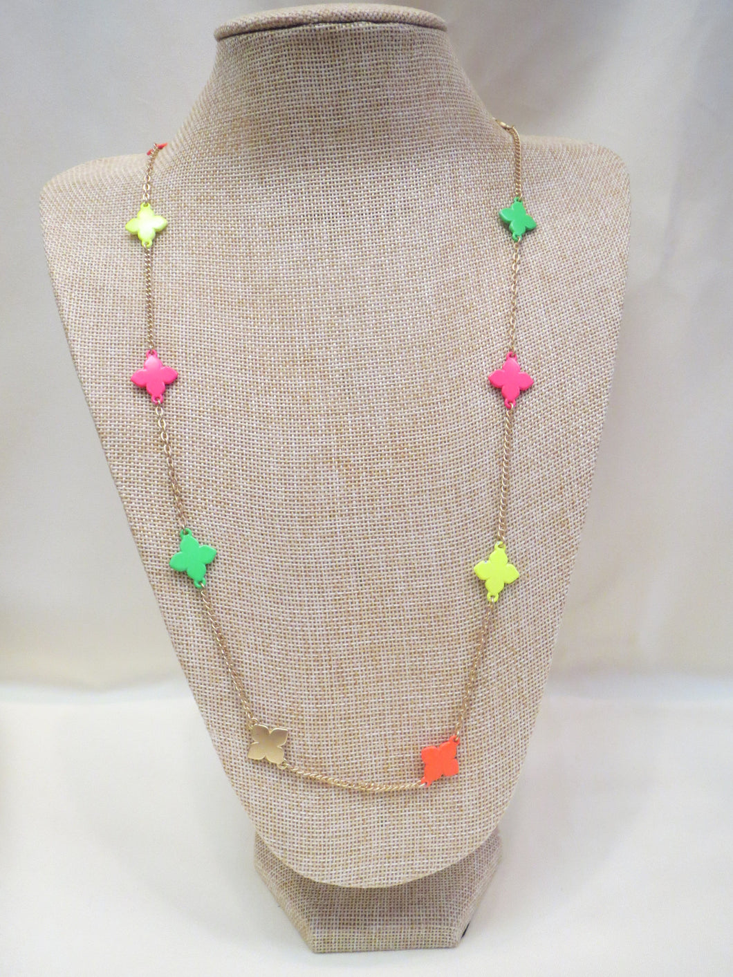 ADO Neon Crosses Gold Chain Necklace | All Dec'd Out