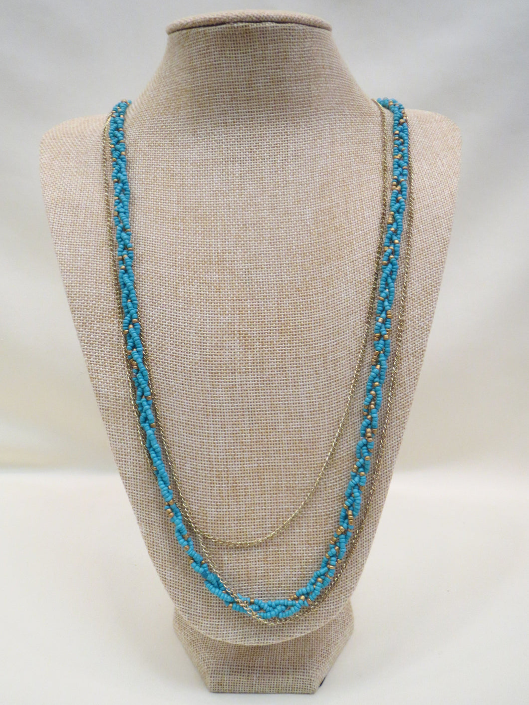 ADO | Turquoise Beads & Gold Chain Necklace - All Decd Out