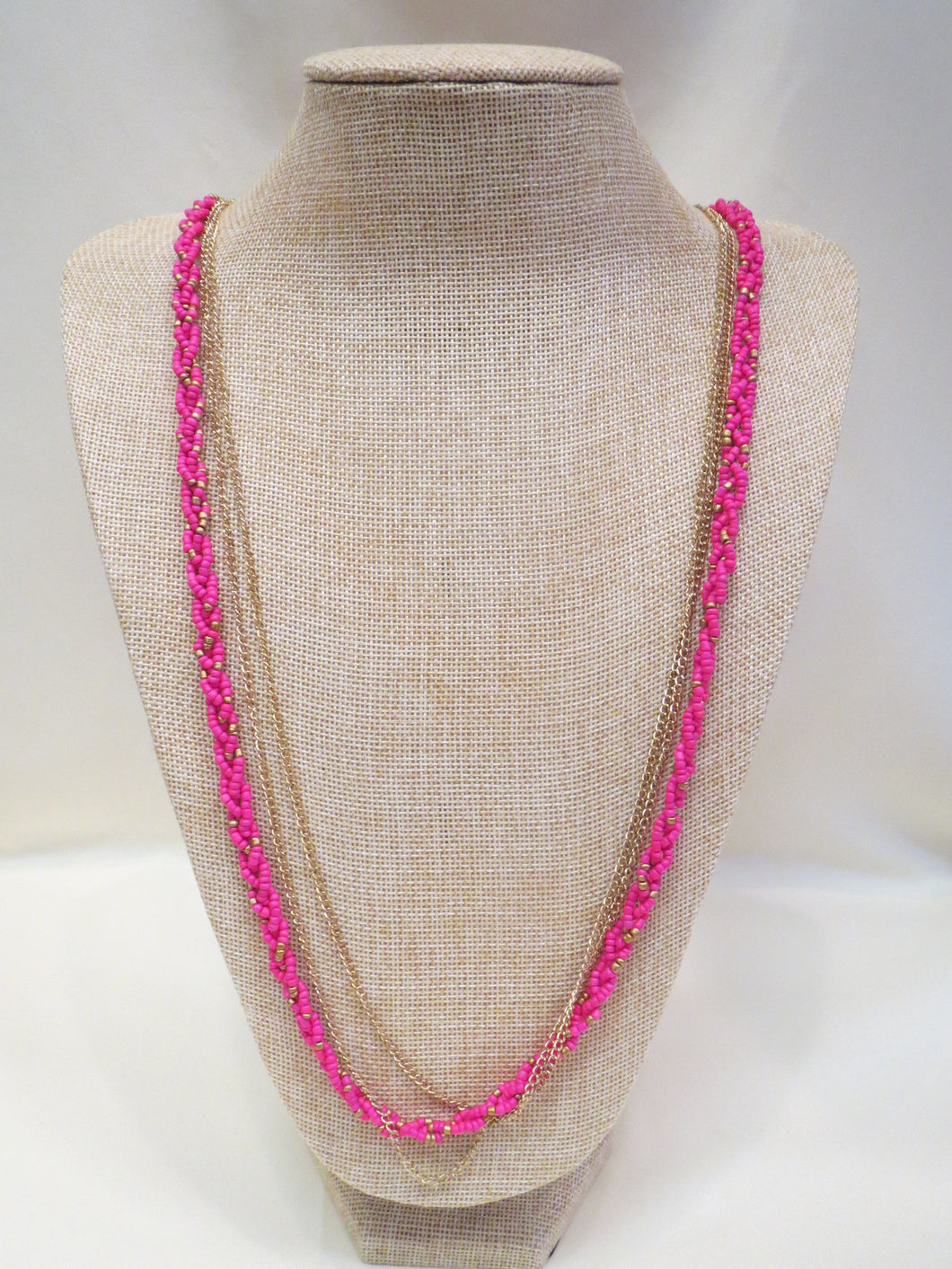ADO Pink Beads & Gold Chain Necklace | All Dec'd Out