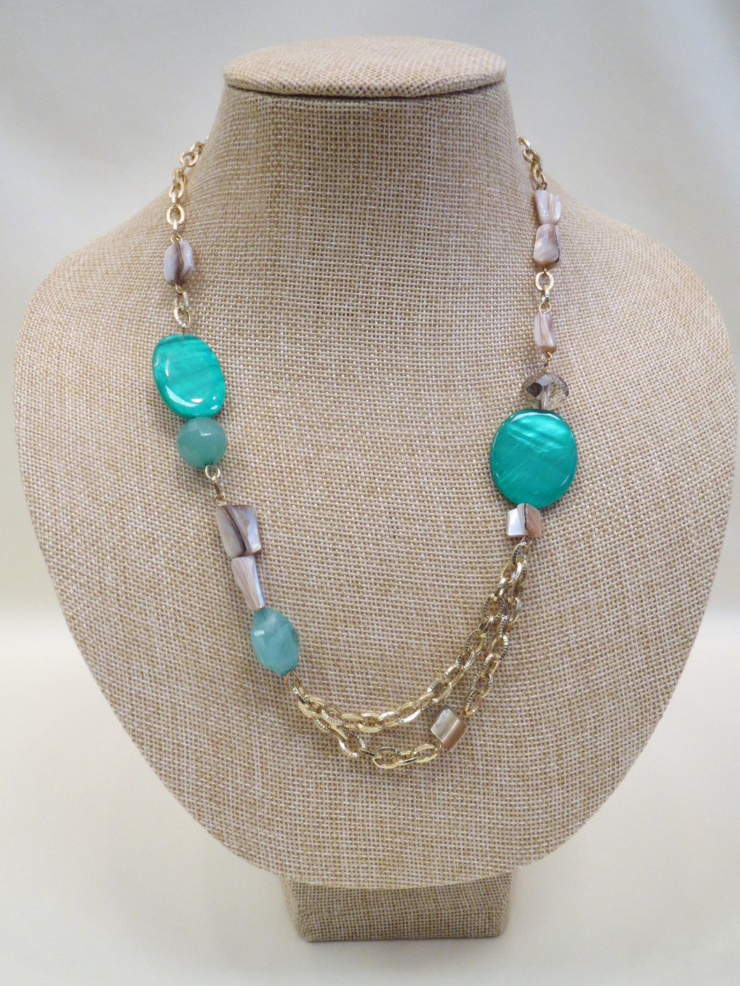 ADO | Green & Gold Necklace - All Decd Out