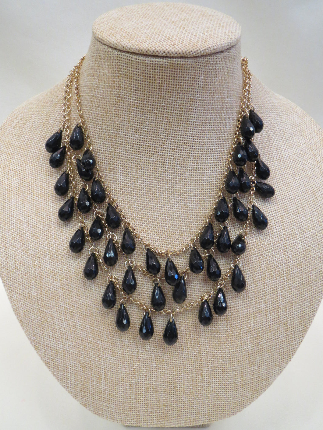 ADO Three Layer Black & Gold Necklace | All Dec'd Out