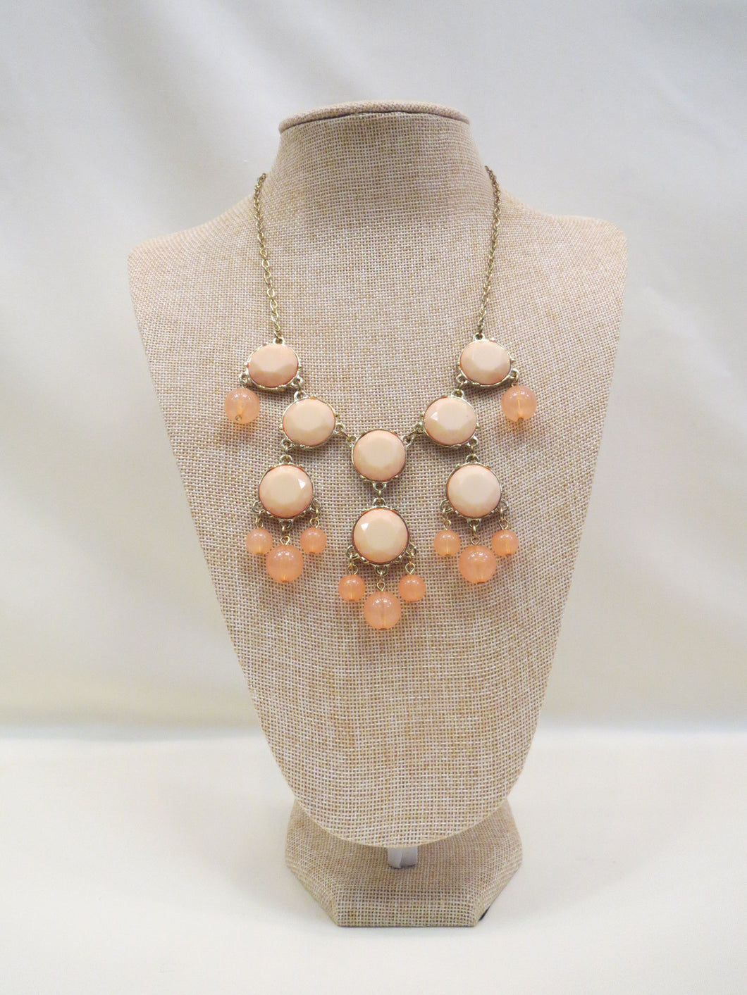 ADO | Bubble Necklace Two-Tone Peach - All Decd Out