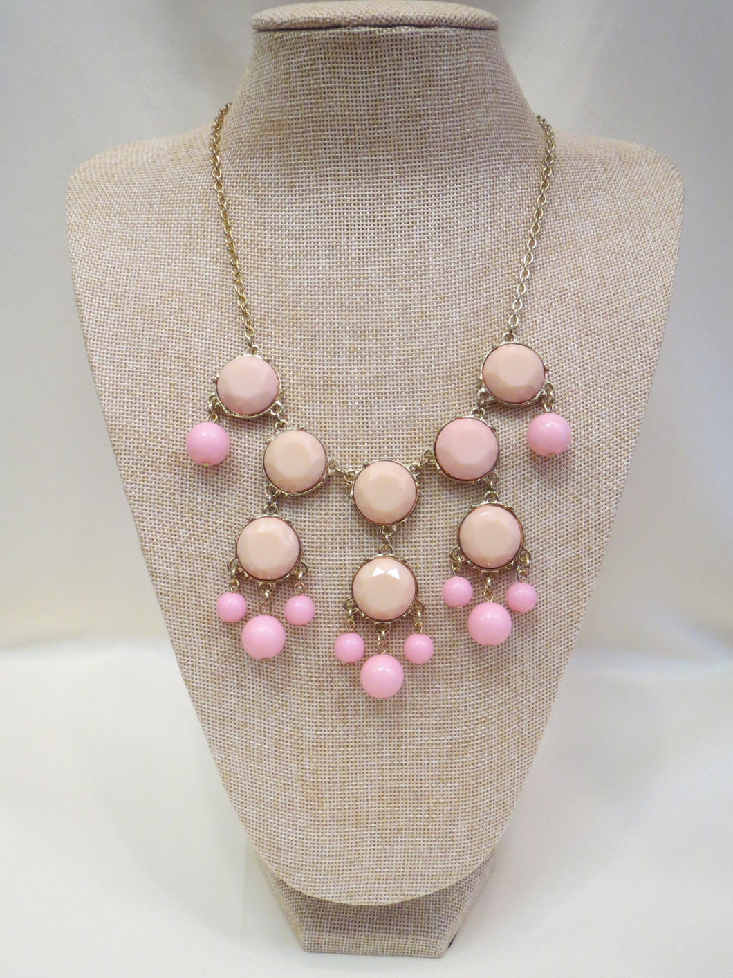 ADO | Bubble Necklace Two-Tone Baby Pink - All Decd Out