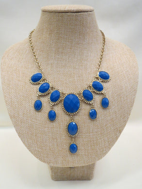 ADO | Blue & Gold Statement Necklace - All Decd Out