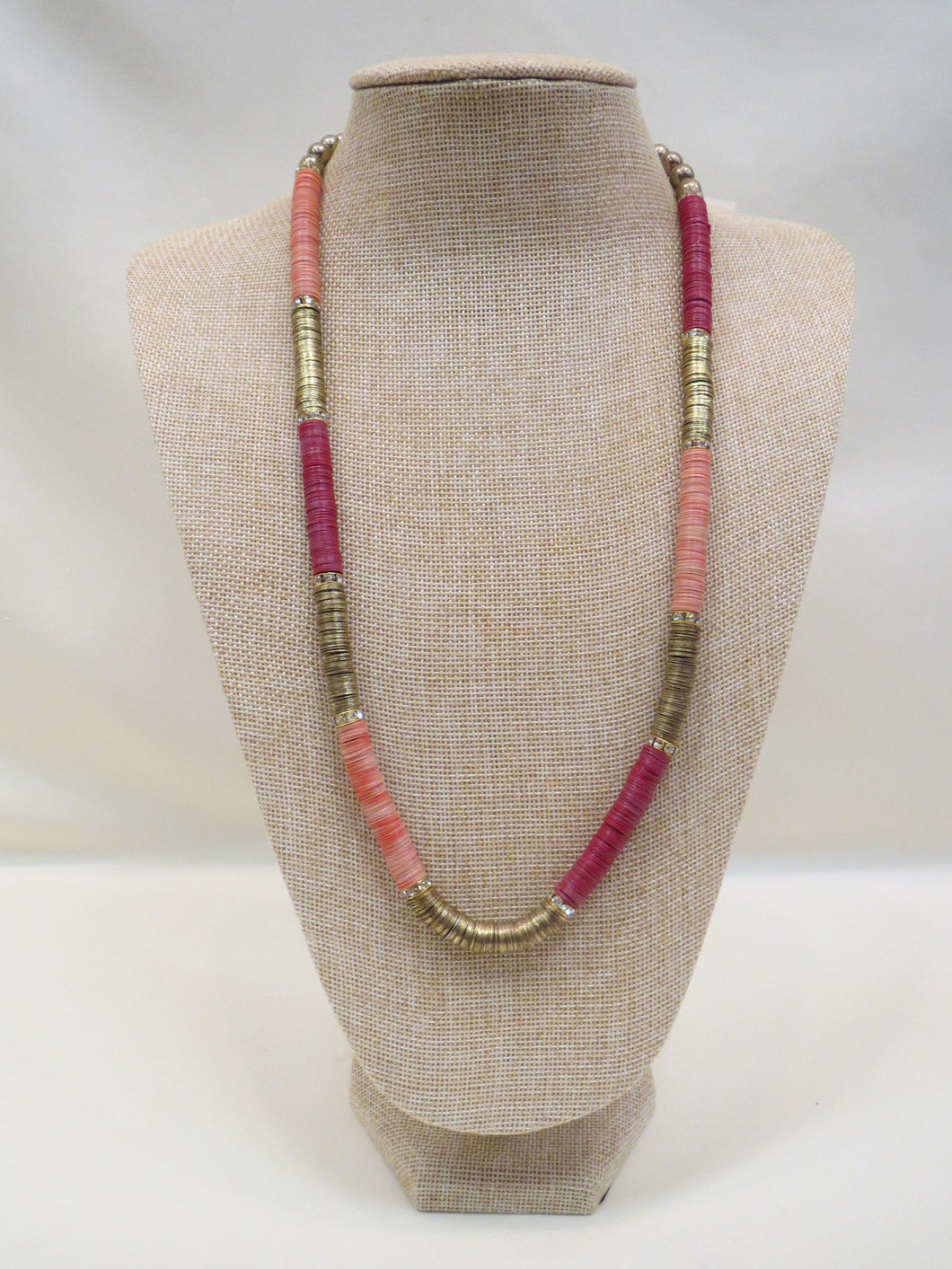 ADO Pink Gold & Magenta Bead Necklace | All Dec'd Out