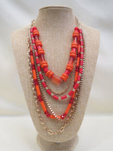 ADO Orange & Gold Multi Layer Necklace | All Dec'd Out
