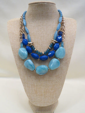 ADO | Blue Multi Layer Necklace - All Decd Out