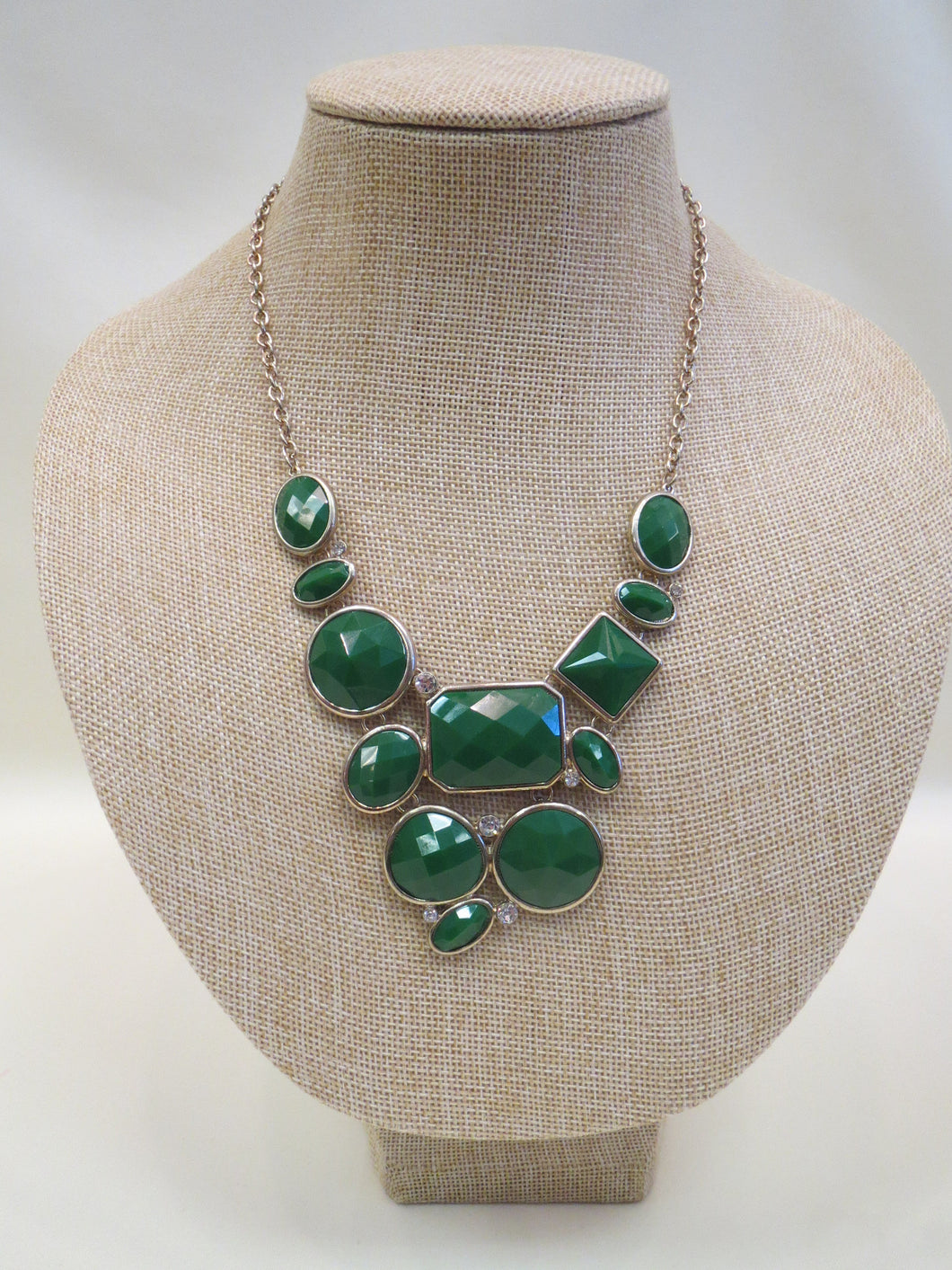 ADO | Green Statement Necklace - All Decd Out