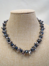 ADO Chunky Silver & Navy Necklace | All Dec'd Out