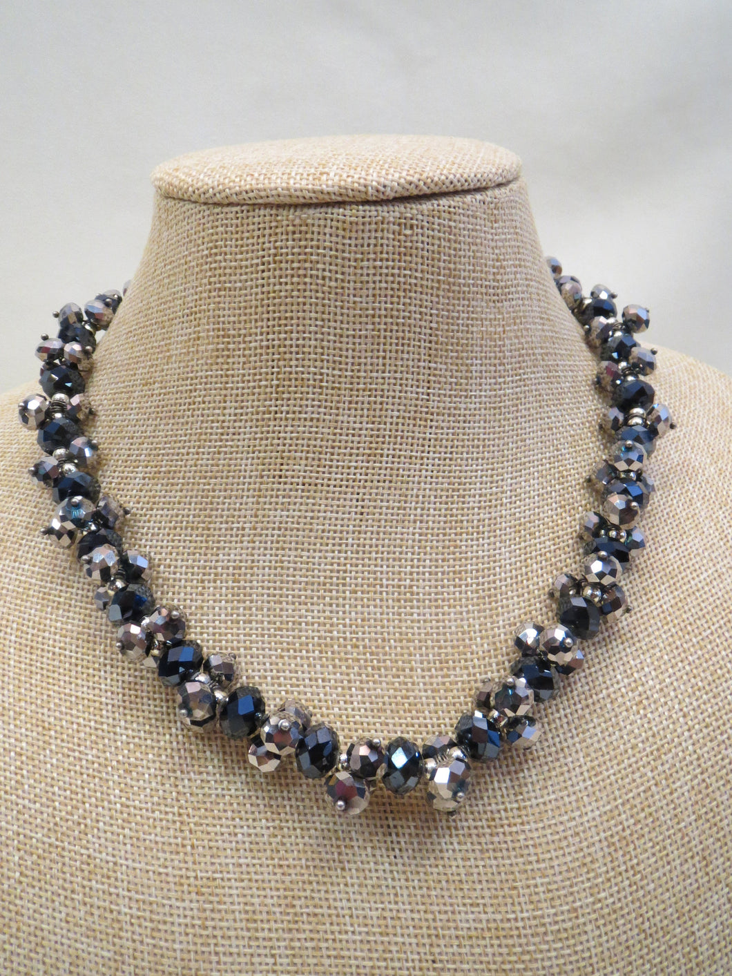 ADO | Chunky Silver & Navy Necklace - All Decd Out