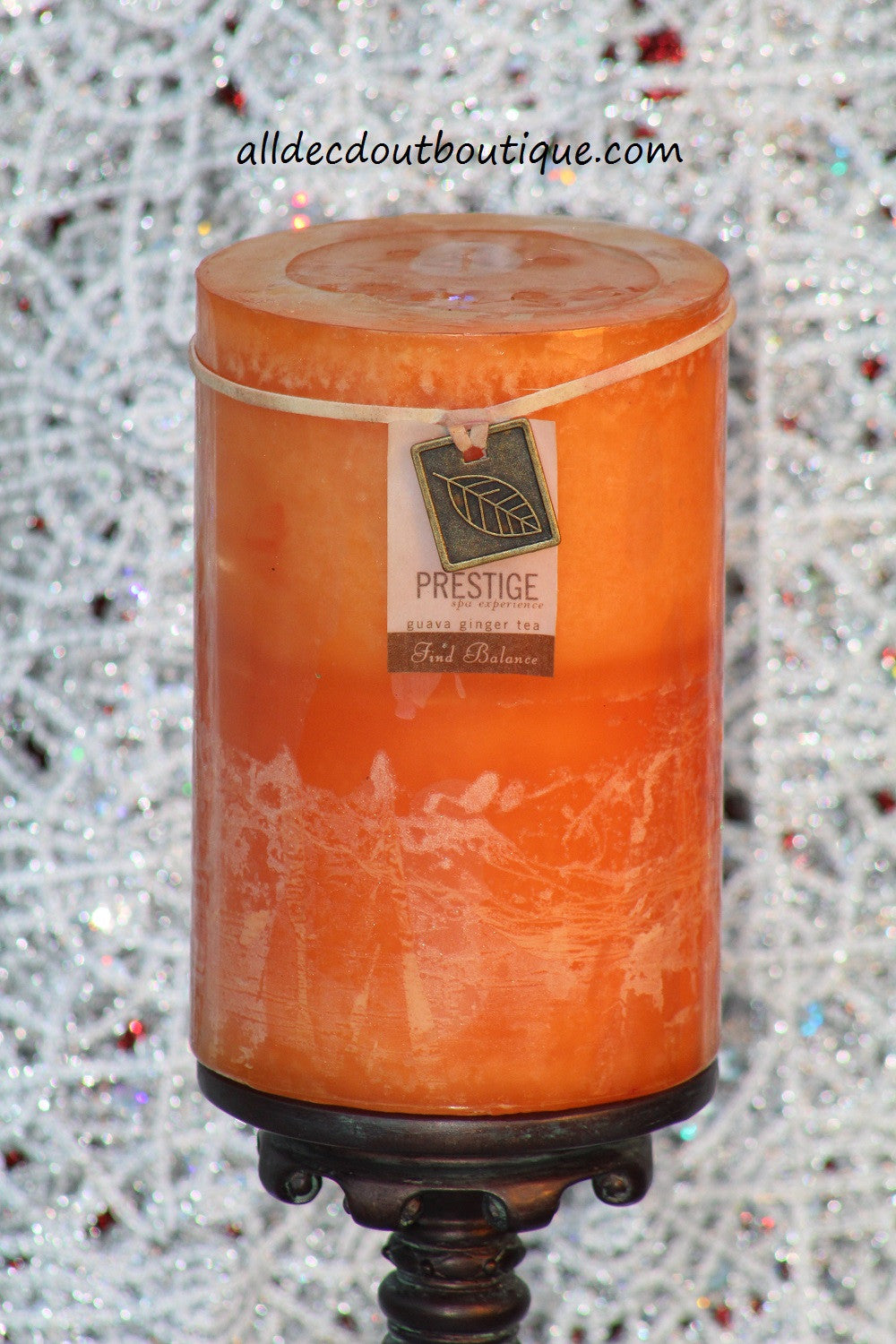 Pillar Candle | 4 x 6 Guava Ginger Tea - All Decd Out