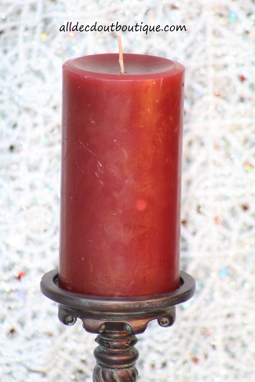 Pillar Candle Red Unscented