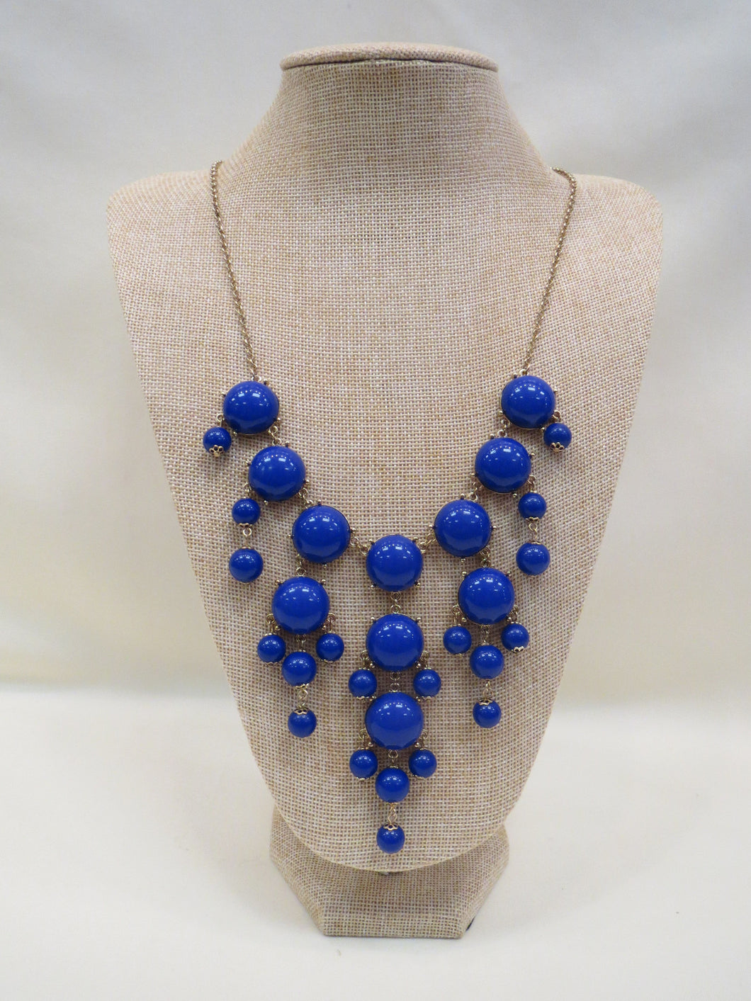 ADO | Bubble Necklace Royal Blue Long - All Decd Out