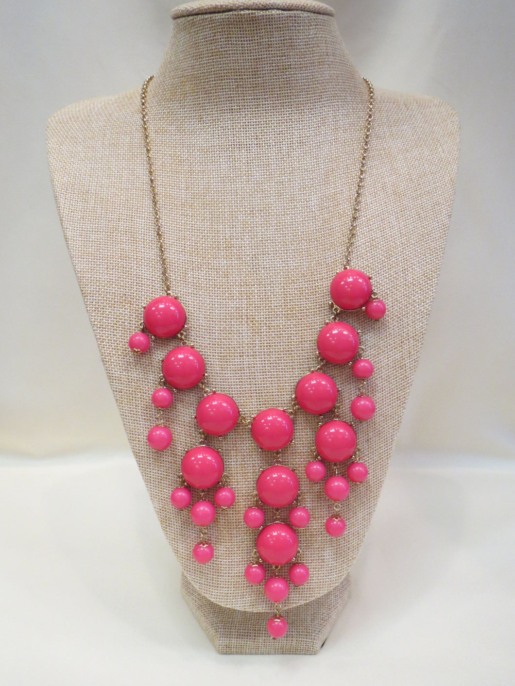 ADO | Bubble Necklace Pink Long - All Decd Out