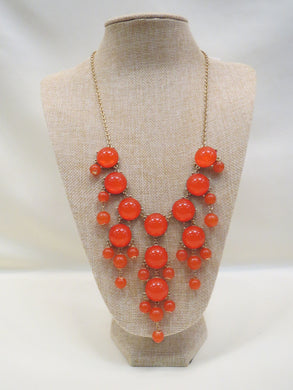 ADO | Bubble Necklace Orange Long - All Decd Out